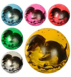 Мяч детский MS 1901 (120шт) 9 дюймов, дельфины, рисунок, 60-65г, 6цветов,
