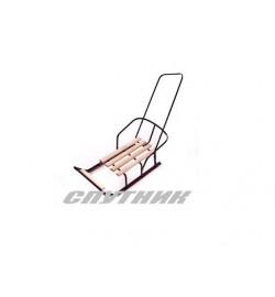 Санки с ручкой – толкателем и спинкой Спутник (мод. 1.1) продольные