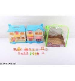 Кукольный дом 08823 с куклами и мебелью батар.муз.свет.сумка 20*15*18,5 /36/