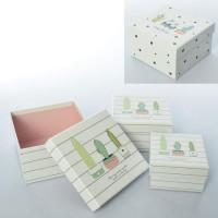 Шкатулка X14574-75 (60шт) сувенирная, 3шт, картон, 2вида, в кульке, 13,5-13,5-7см