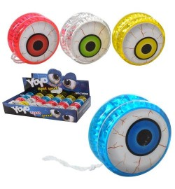 Йо-йо M 5807 (288шт) 5,5см, глаз, свет,бат(таб), 24шт(микс цветов) в дисплее, 38-17-6см
