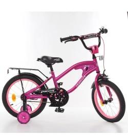 Велосипед детский PROF1 14д. Y14183 (1шт) TRAVELER,малиновый,звонок,доп.колеса