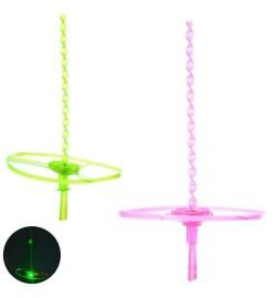 Вертушка SG012C (300шт) диам. 18см, свет, 2цвета, бат(таб), в кульке, 18-30-2см