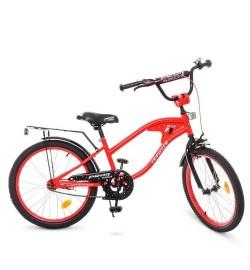 Велосипед детский PROF1 20д. Y20181 (1шт) TRAVELER,красный,звонок,подножка