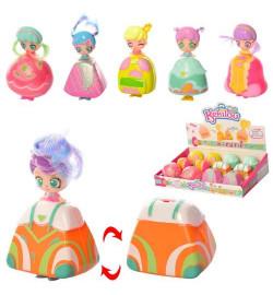 Кукла DD-12 (180шт) KL,9см, складывается в сумочку, 12шт(6 видов) в дисплее,28-18-6см