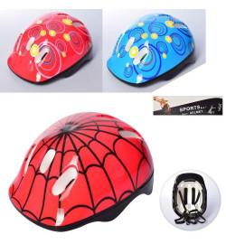 Шлем MS 2304 (30шт) 6 отверстий, 3цвета, размер средний, в кульке,25-37-12см