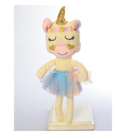 Кукла X15309 (40шт) единорог, 34см, мягконабивная, в кульке, 7-34-14см