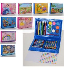 Набор для творчества MK 3133-2 (72шт) карандаши, акв.краски, мел, 42предм,8вид,в пенале, 17,5-12-3с