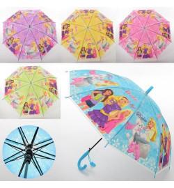 Зонтик детский MK 3630-7 (60шт) BR, длина67см,трость61см,диам83см,спиц48см,клеенка,свисток,5видов
