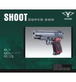 Пистолет VIGOR 238 с пульками кул.15,5*11см /288/