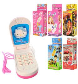 Телефон M 0265 I U/R-1 (360шт) мобильный, 6 видов, в коробке, 4,5-9см