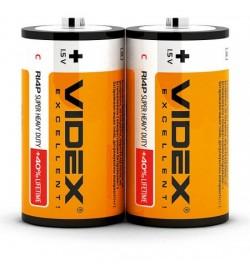 Бат. солевая  Videx R20, D, трей 2/24/288 (21153)
