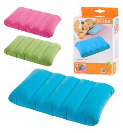 Подушка 68676 (24шт) надувная, 3 цвета, 43-28-9см