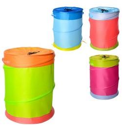 Корзина для игрушек M 2507 (50шт) диам.35см,высота 41см,2ручки,на шнурке,3цвета,в кульке,37-37-2см
