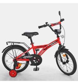 Велосипед детский PROF1 14д. T1431 (1шт) Racer,красный,звонок,доп.колеса