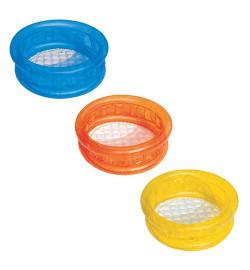 BW Бассейн 51112 (24шт) детский, круглый, надувное дно, 3 цвета, в кор-ке, 64-25см