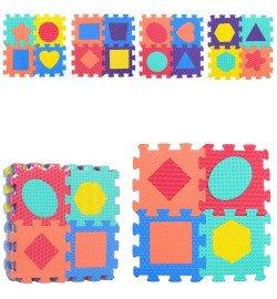 Коврик Мозаика M 2624 (20шт) EVA, фигурки, 20деталей, 16,5-16,5-1см, в кульке, 32,5-32,5-5см