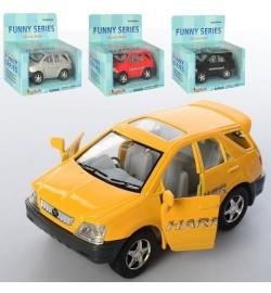 Машинка KT 4008 W (24шт) металл,инер-я,9,5см, резин.колеса, открыв.двери,4цв, в кор-ке,13-12-6,5см