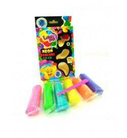 Набір тіста для ліплення ТМ LOVIN'DO 6 кольорів Неон