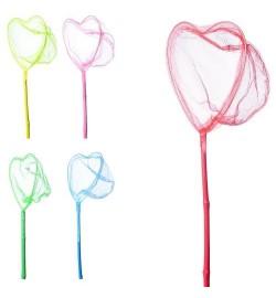 Сачок для бабочек  MS 1285-1 (100шт) длина 80см, длина ручки 60см, диаметр 20см, форма сердце ,5 цв