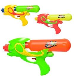 Водяной пистолет  M 5910 (144шт) размер средний, 25,5см, 3цвета, в кульке, 15-25,5-5см