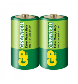 Бат. GP 14G-S2 Greencell R14, C, трей 24/480