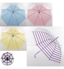 Зонтик MK 3624 (60шт) длина72см,трость65см,диам.93см,спица53см,клеенка,рисун,прозрач,4цв,