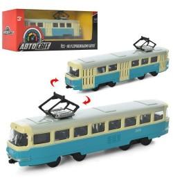 Трамвай AS-1830 (96шт)  АвтоСвіт 1:87,металл,инер-й, 16,5см, в кор-ке,19,5-8-5,5см