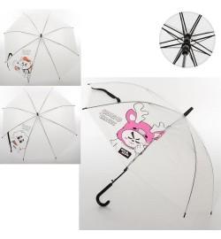 Зонтик MK 3650 (100шт) длина73см,трость59см,диам.91см,спица53см, клеенка,3вида,в кульке,