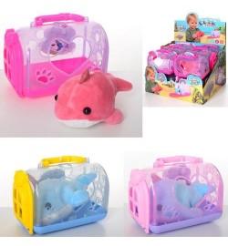 Животное DR5051 (72шт) дельфин, 14см, плюш, чемодан16-11-8,5см, 12шт(3цв) в дисплее,32-22,5-27см