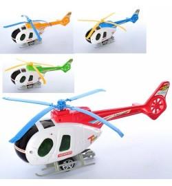Вертолет 3488 (120шт) 29см, заводной, подвижные лопасти, микс цветов, в кульке, 29-10-7см