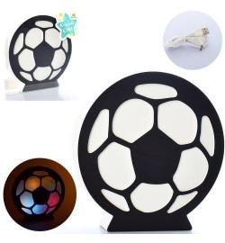 Деревянная игрушка Ночник MD 2227 (30шт) футбольный мяч,свет, USBзар,от сети/на бат,в кор, 22-24-4с