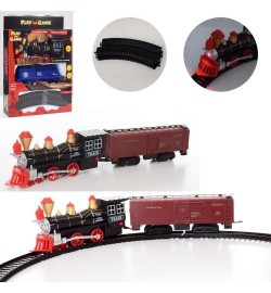 ЖД 18886 (48шт) локомотив16см, вагон, звук, свет, 2вида, на бат-ке, в кор-ке, 20-28,5-5,5см
