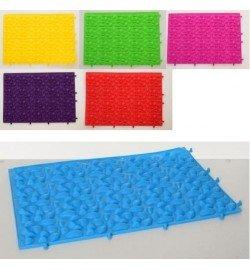 Коврик MS 2893 (60шт) массажный, 39-28см, 6цветов