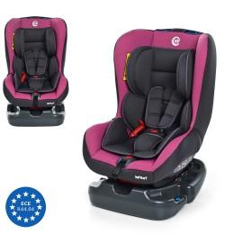 Автокресло ME 1010 INFANT Pink Shadow (1шт) детское,группа 0+/1 (до 18кг),cер-розов