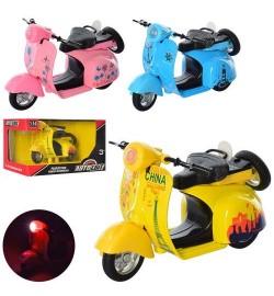 Мотоцикл AS-2116 (56шт) АвтоСвіт,1:14,металл, инер,12см,зву,св,3вида,бат(таб),в кор-ке,15,5-10-8,5с