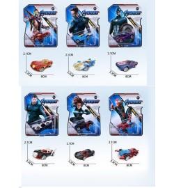 Набор моделек 2176 супергерои метал.6в.лист 17*4,5*14 /480/
