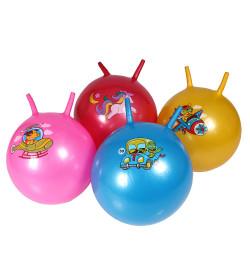 Мяч 45см роги BT-PB-0082 животные на тр-те 400г 5рис.5цв./30/