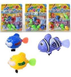 Водоплавающая игрушка 6082-83-85 (480шт) морские обитат,от 8см,3вида,в куль, 8шт на листе, 28-35-4с
