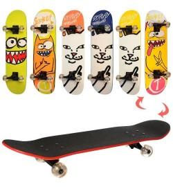 Скейт MS 0355-5 (6шт) 79-20см(нажд),алюм.подвеска,колесаПУ, подшABEC-7,6видов,разобр,