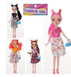 Кукла 686 (180шт) EN, 25см, сумочка, 4вида, в кульке, 10,5-30-4см