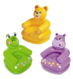 Кресло 68556 (12шт) детское, 65-64-74см, винил, комплект для ремонта,3 вида, в кор-ке,23-20,5-6см