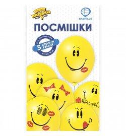 1111-0825 Кулька Набір латексних кульок Посмішка, 5 од. ПАК,ТМ