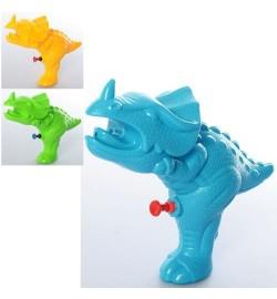 Водяной пистолет MR 0283 (144шт) размер маленький, динозавр 20см, 3цвета, в кульке,15-20-5,5см