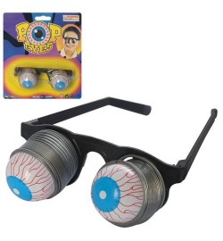 Аксессуары для праздника MK 2399 (120шт) очки, 12,5см, выпадающие глаза, на листе,17-19-4см