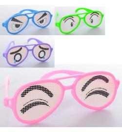 Аксессуары для праздника M 6227 (720шт) очки, принт-глаза, 4вида/4цвета, в кульке, 15,5-5-1,5см