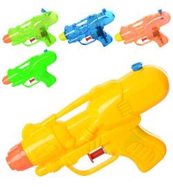 Водяной пистолет M 3076 (120шт) размер маленький, 13.5см, 2 вида, микс цветов, в кульке,11.5-18-3cм