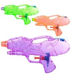 Водяной пистолет M 5394 (192шт) размер маленький, 21см, 3 цвета, в кульке, 21-12-3см