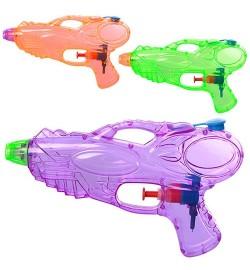 Водяной пистолет M 5395 (192шт) размер маленький, 18см, 3 цвета, в кульке, 18-10,5-3см