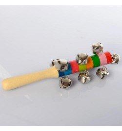 Деревянная игрушка Бубен MD 2197 (300шт) 19см, в кульке, 19-5,5-5,5см